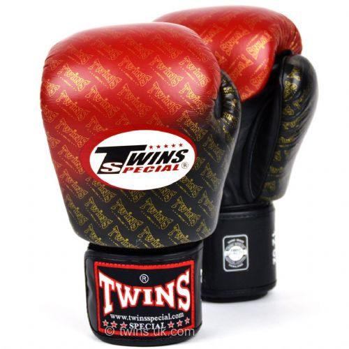 Twins Black/Red Fade Boxing Gloves